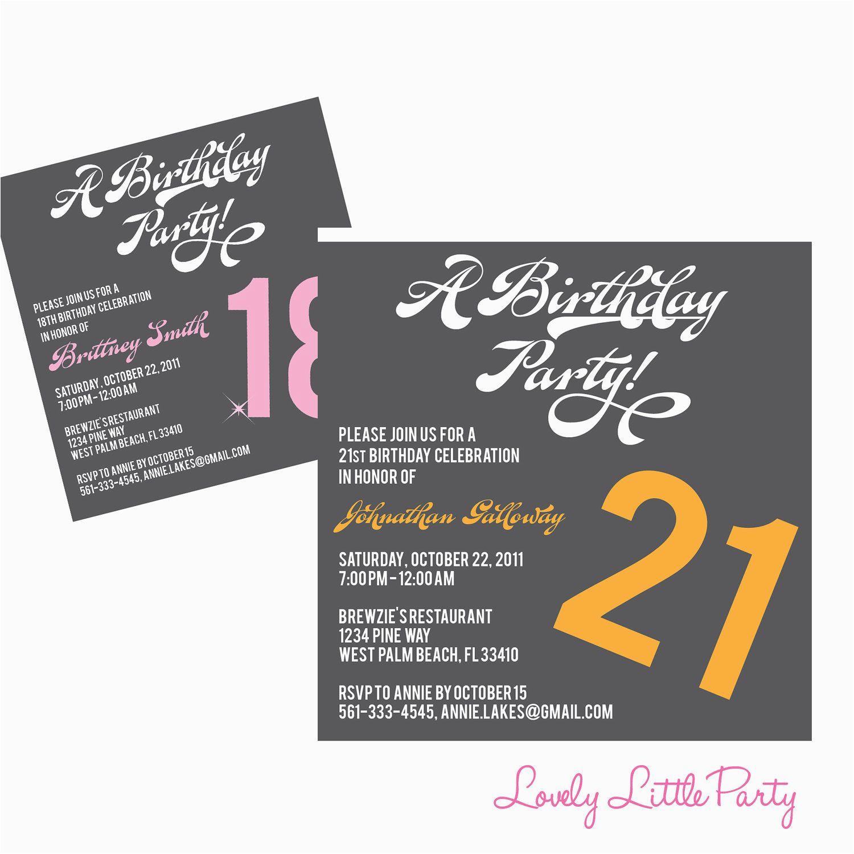 18th birthday invitation templates free