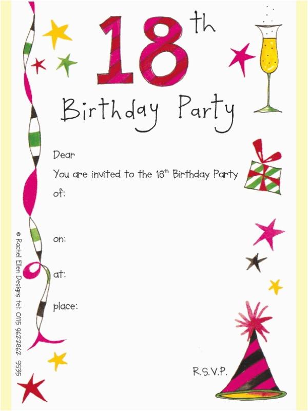 18th birthday invitations template