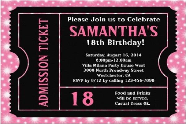 18th Birthday Invitation Wording Ideas Bagvania Free Printable