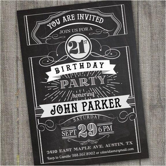 17 best ideas about 21st birthday invitations on pinterest