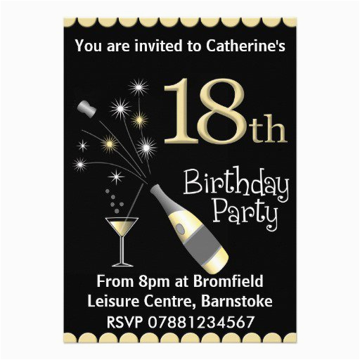 18th Birthday Invitations for Guys Male 18th Birthday Invitations