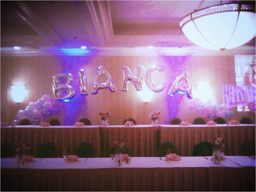 18th Birthday Table Decorations Decoration For Head Balloonname