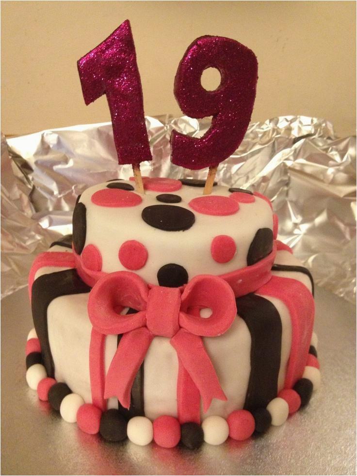19th birthday cake for girl