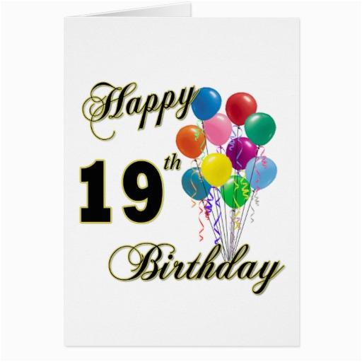 happy 19th birthday merchandise greeting card 137132492356353969