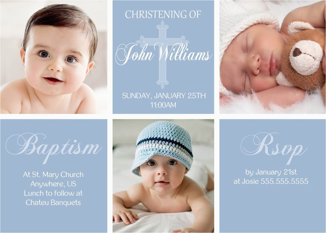 1st Birthday And Baptism Combined Invitations 1st Birthday And