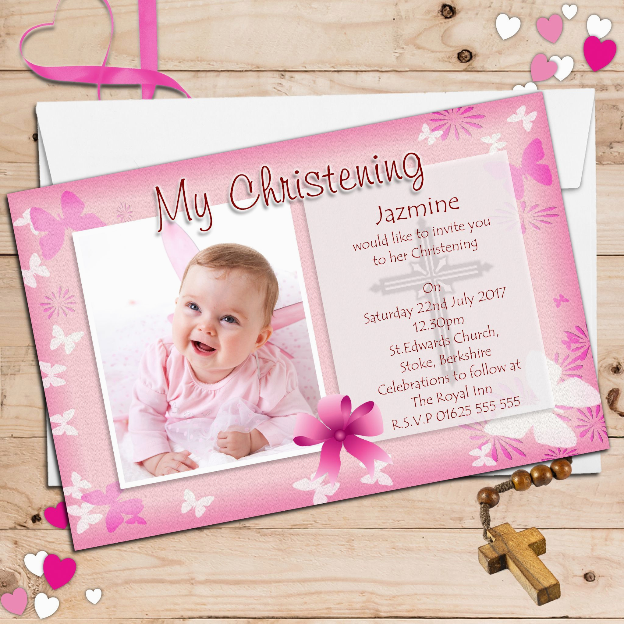5st Birthday And Baptism Combined Invitations - 5st Birthday Ideas