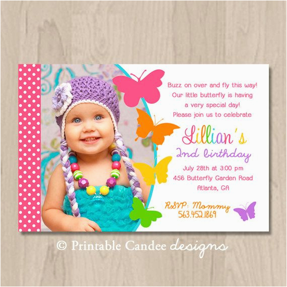 Personalized Butterfly Garden Birthday Invitation