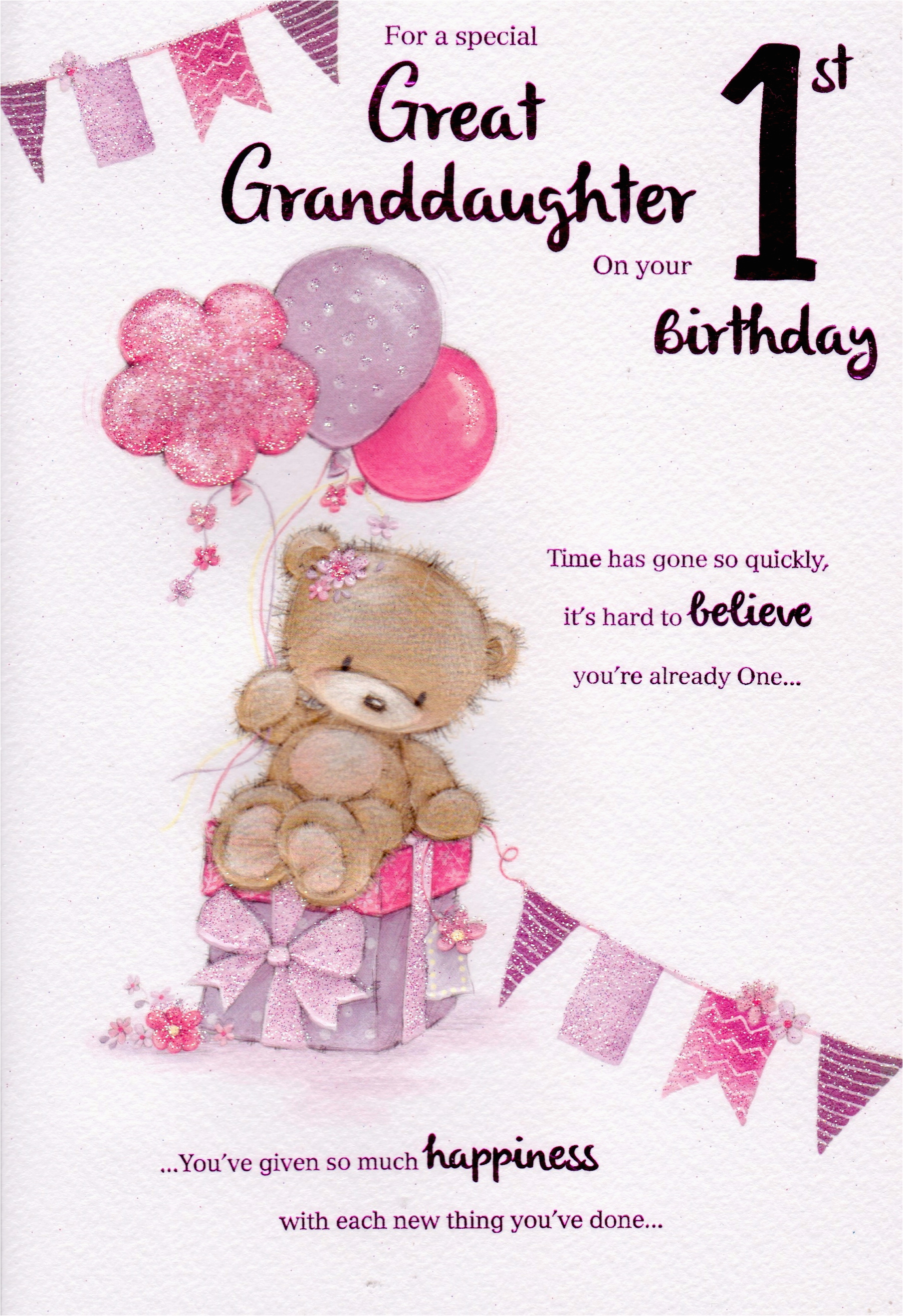 granddaughter 1st birthday card verses birthday tale
