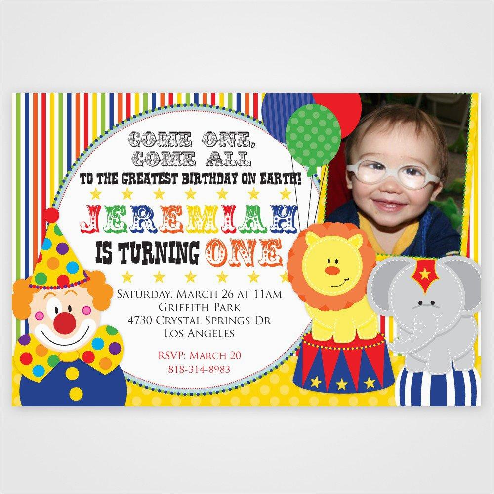 1st Birthday Circus Invitations Circus 1st Birthday Invitations Best