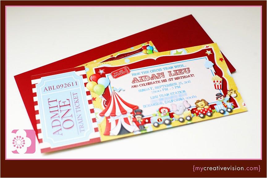 1st Birthday Circus Invitations Invitation Parlour Aidan 39 S Circus