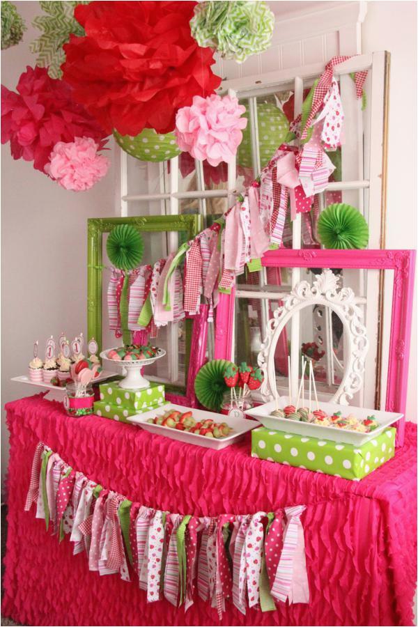 strawberry 1st birthday party