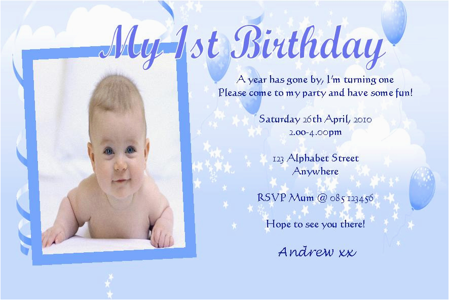 personalised birthday photo invitations boy design 8 201 p