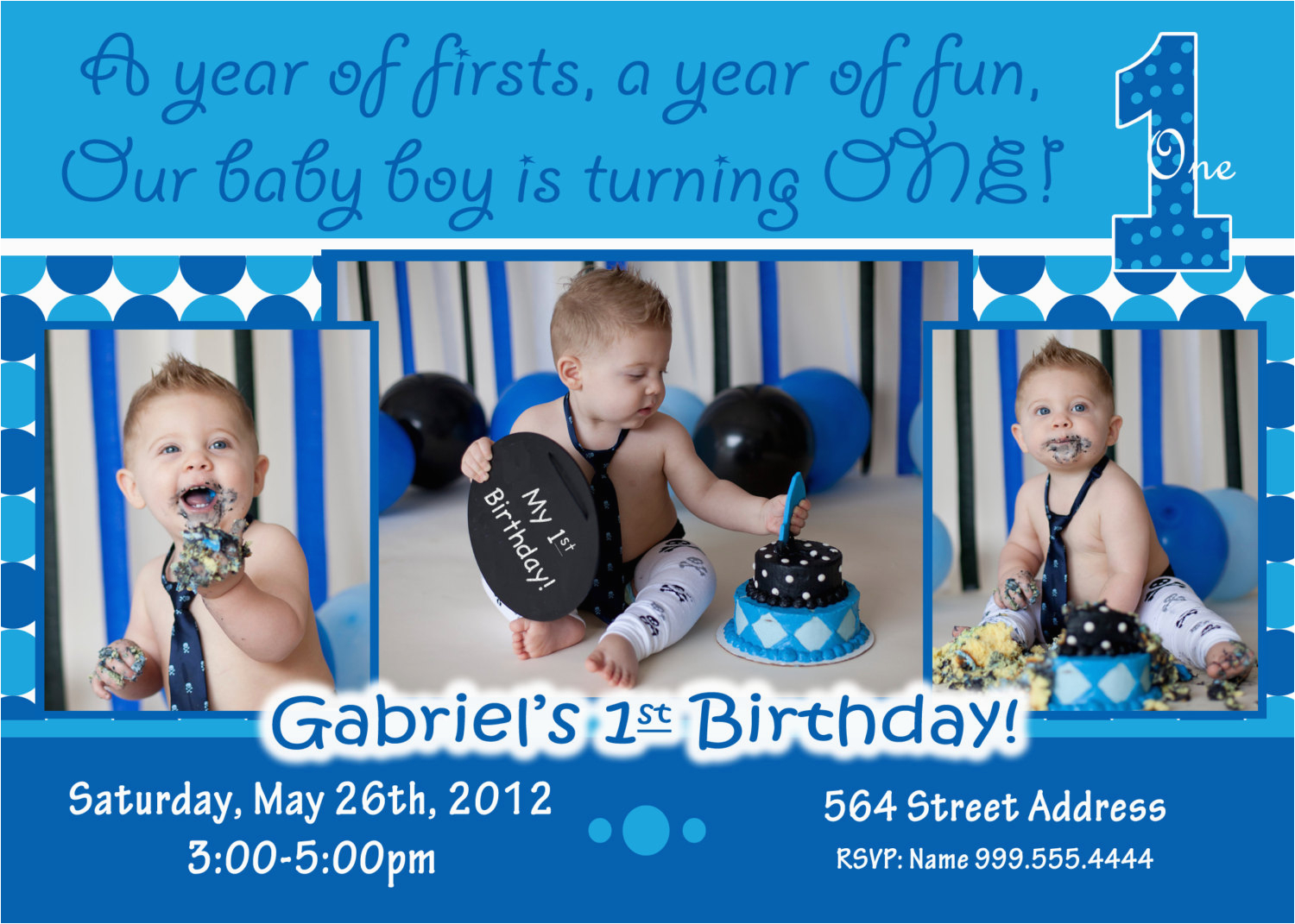 1st Birthday Invitation Ideas For A Boy Baby Invitations Free Printable