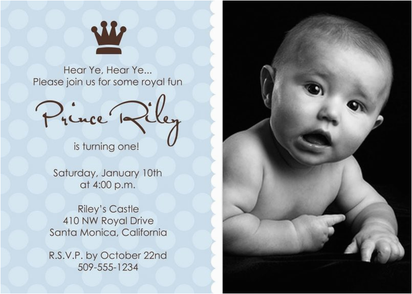1st Birthday Invitation Message For Baby Boy Colors First Sayings With