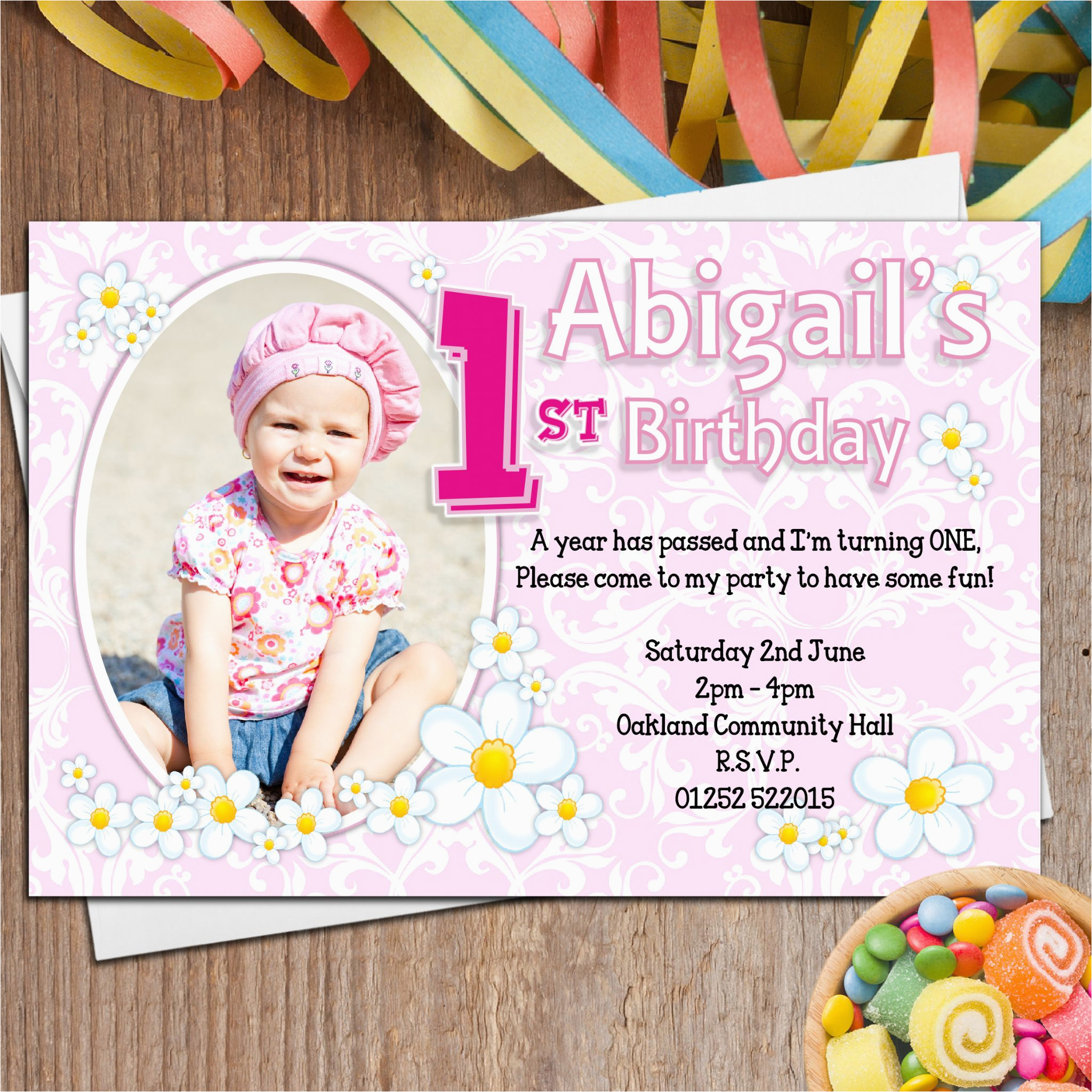 1st Birthday Invitation Message For Baby Girl Quotes Best Happy
