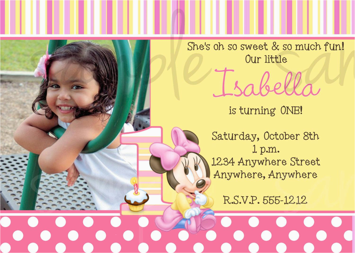 1st Birthday Invitation Message For Baby Girl First Messages Best