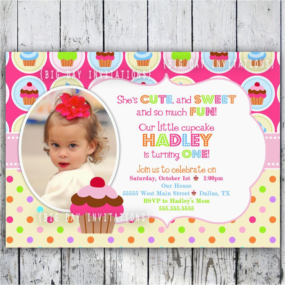 best photos of cupcake birthday party invitation templates
