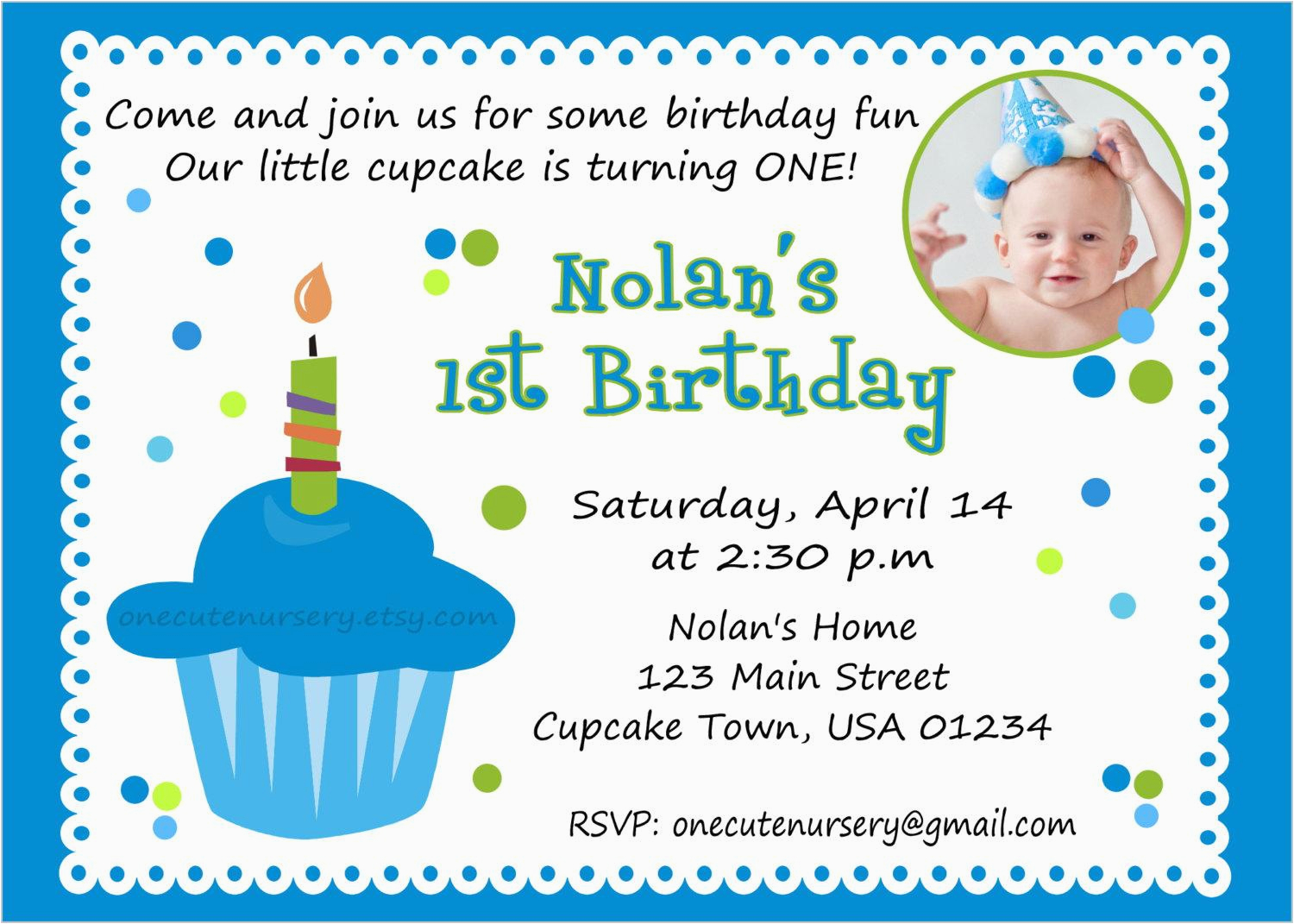 1st Birthday Invitation Message Samples Party Card Sample