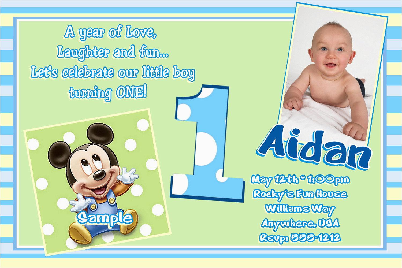 1st Birthday Invitation Template Birthdaybuzz
