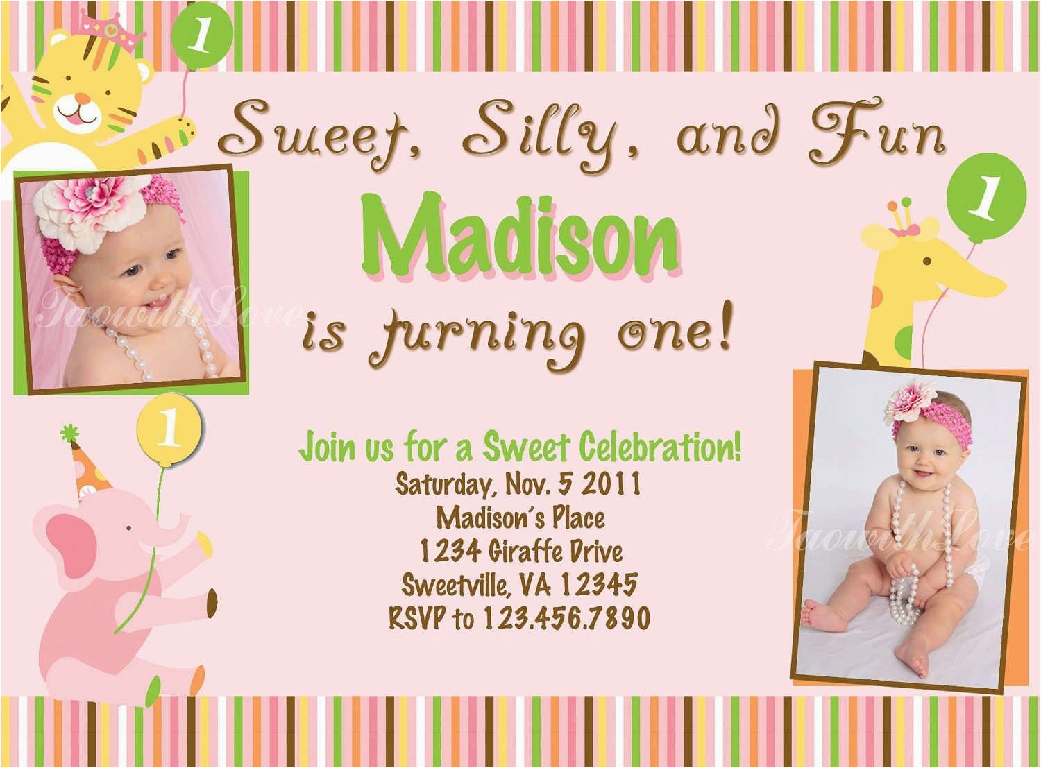1st Birthday Invitation Templates Free Download 40th Birthday Ideas 1st Birthday Invitation Templates