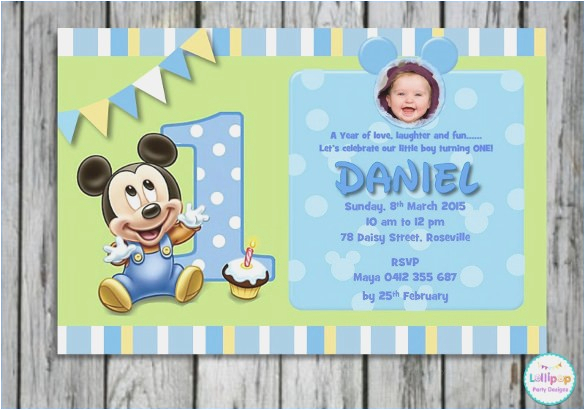1st Birthday Invitation Templates Free Download Editable Card