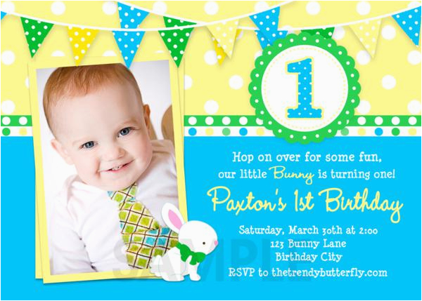 1st Birthday Invitation Wording For Boys Free Printable