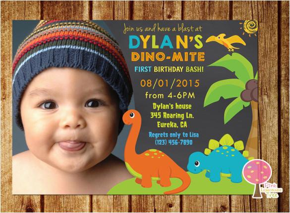 1st Birthday Invitations Boy Online Free 15 Dinosaur Psd Vector Eps