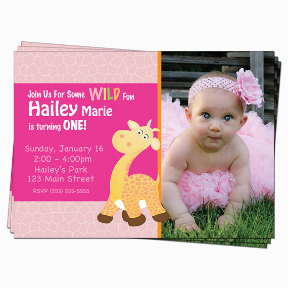 1st birthday invitations for a girl