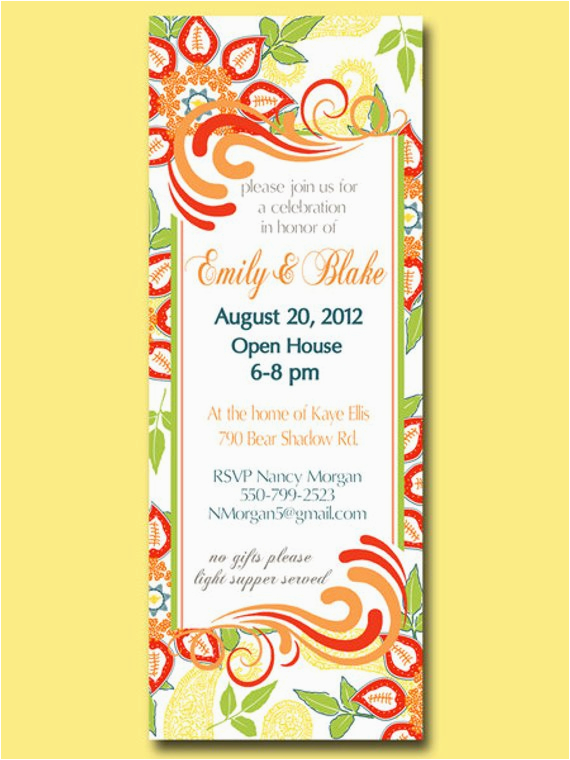 1st Birthday Open House Invitation Wording Printable Custom For Any Occasion Shower