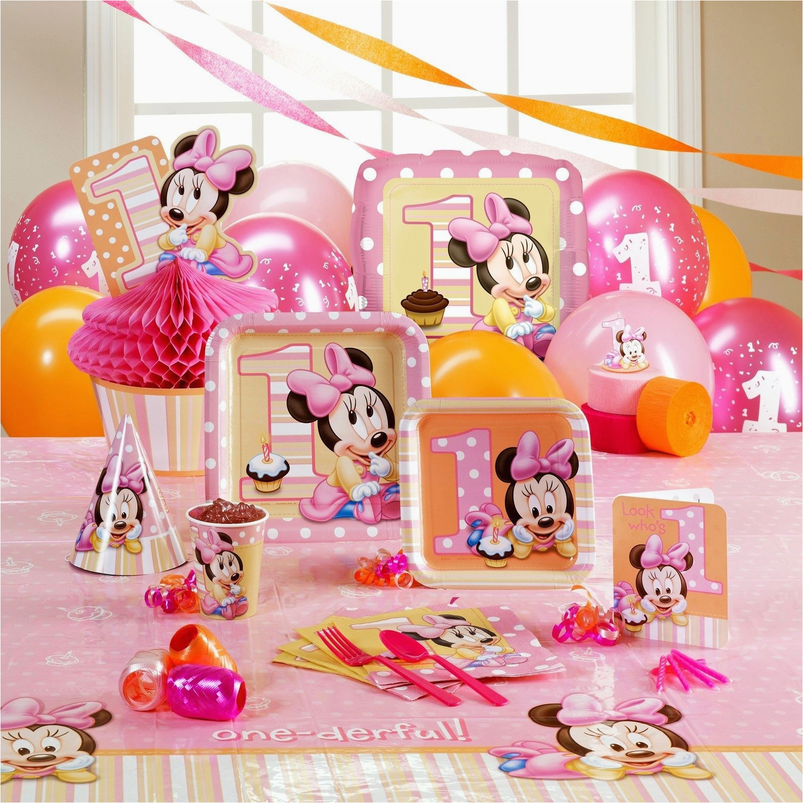 1st Birthday Party Decorations For Baby Girl Fresh First Decoration Ideas At Home