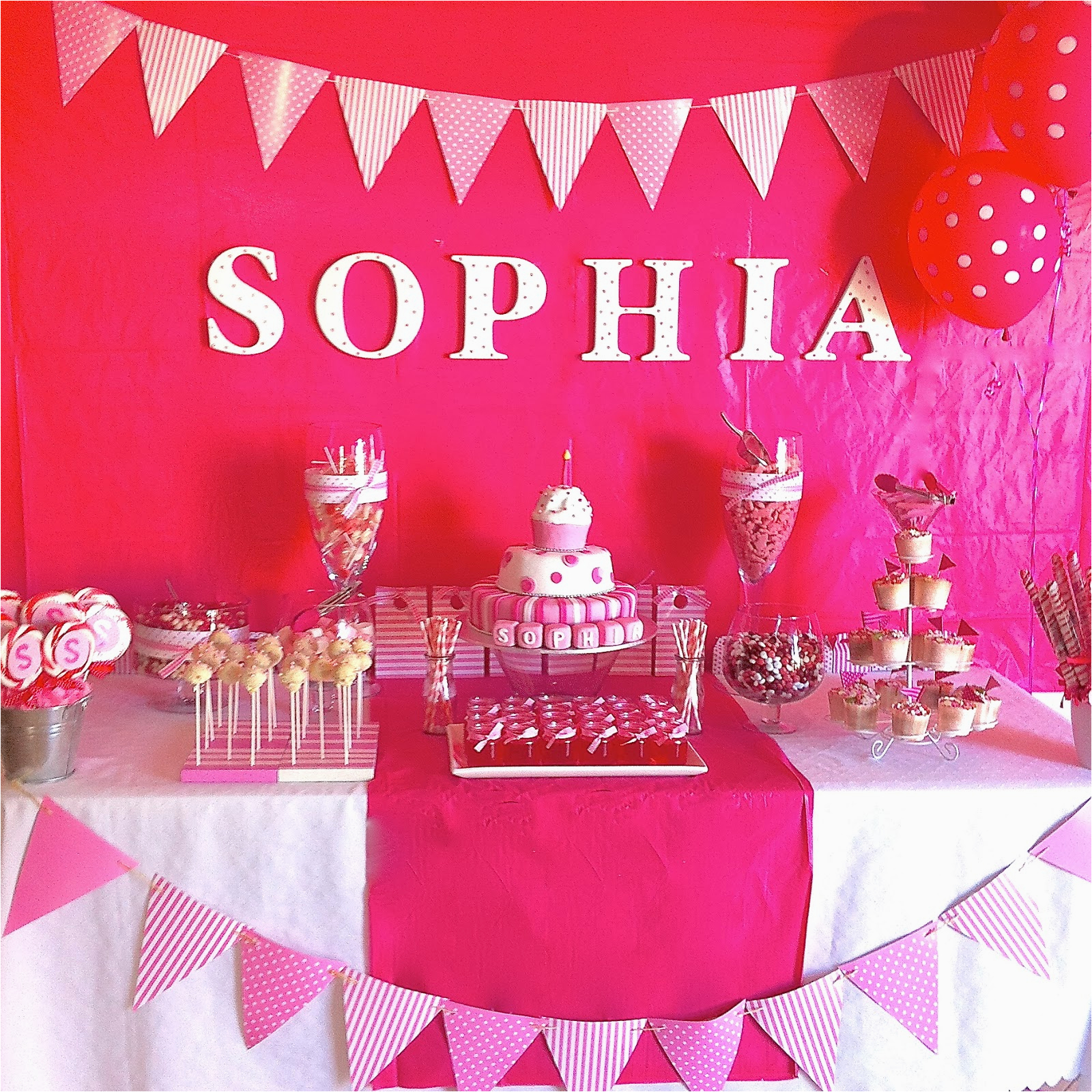 party ideas pink spots and stripes