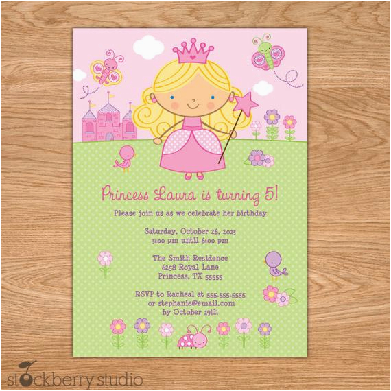 princess birthday invitation printable princess invitation