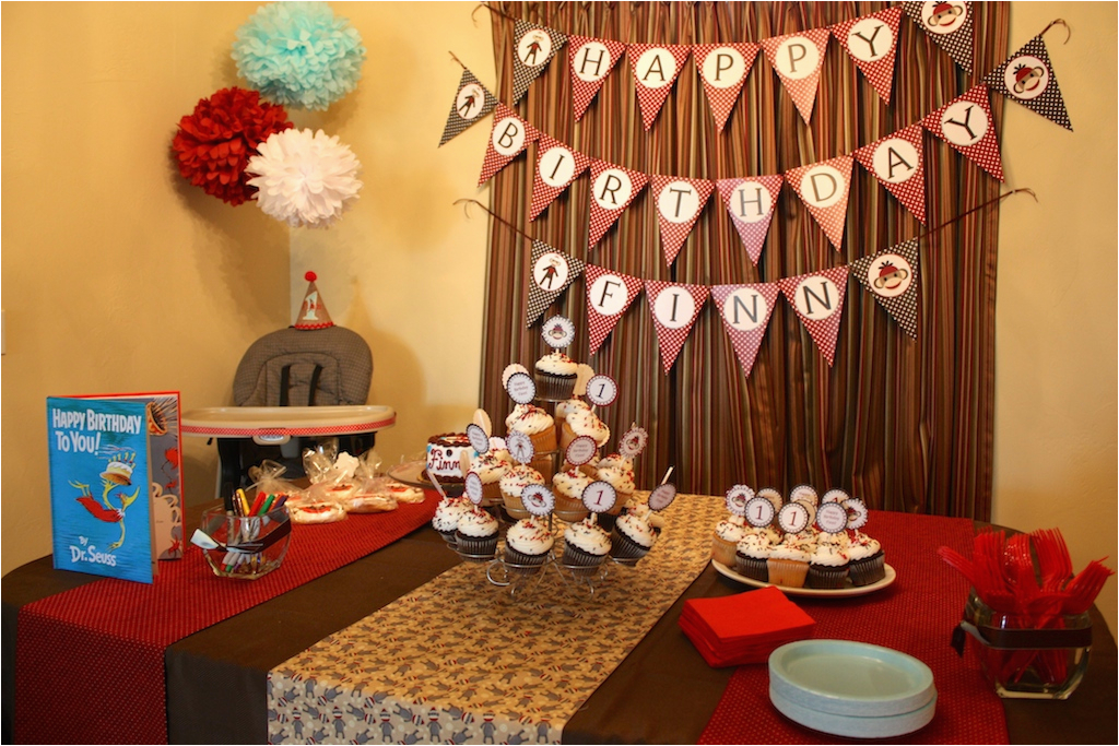 1st Birthday Table Decorating Ideas Sock Monkey Themed First Party