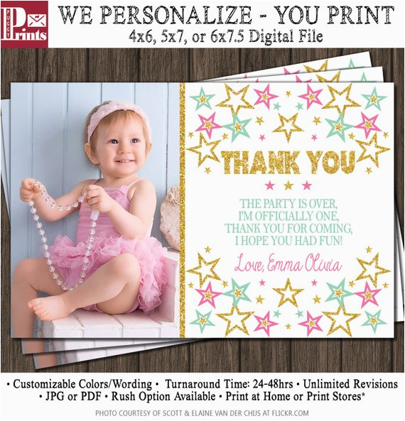 twinkle twinkle little star thank you card first
