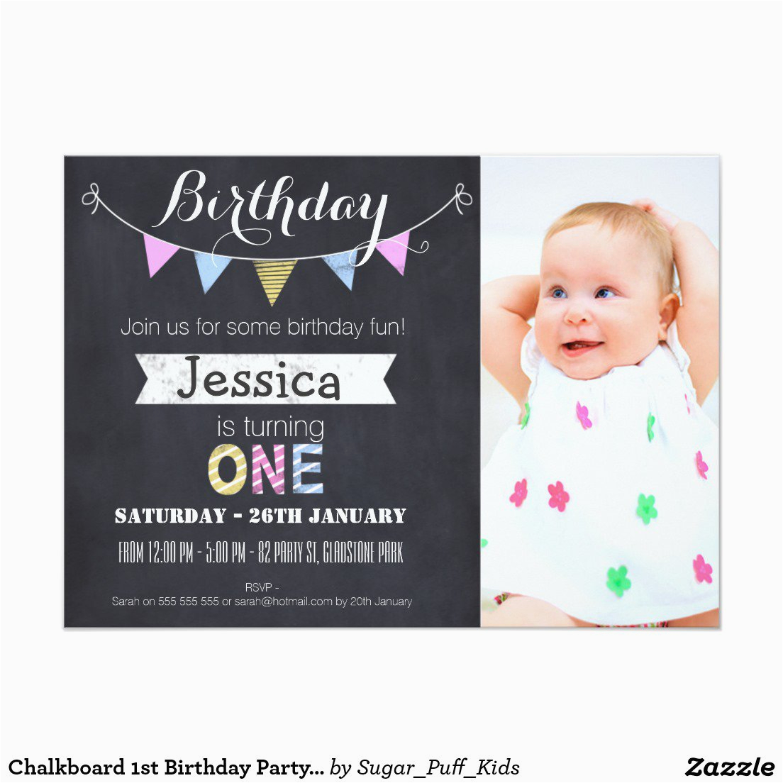 1st Year Baby Birthday Invitation Cards 1st Birthday Party