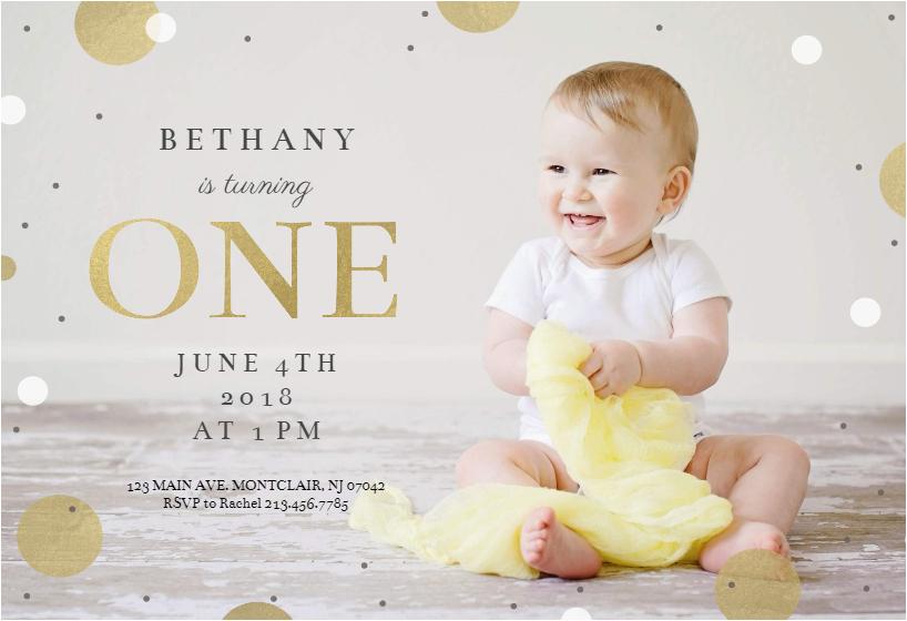 1st confetti free birthday invitation template