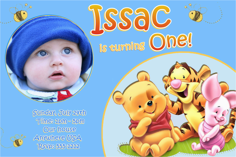 baby first birthday invitations bagvania free printable