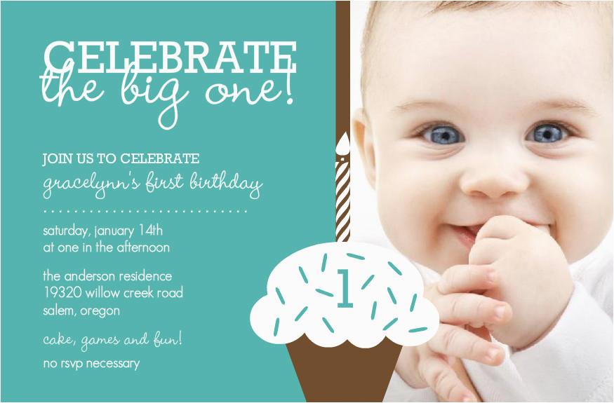 first birthday invitation cards for baby boy girl