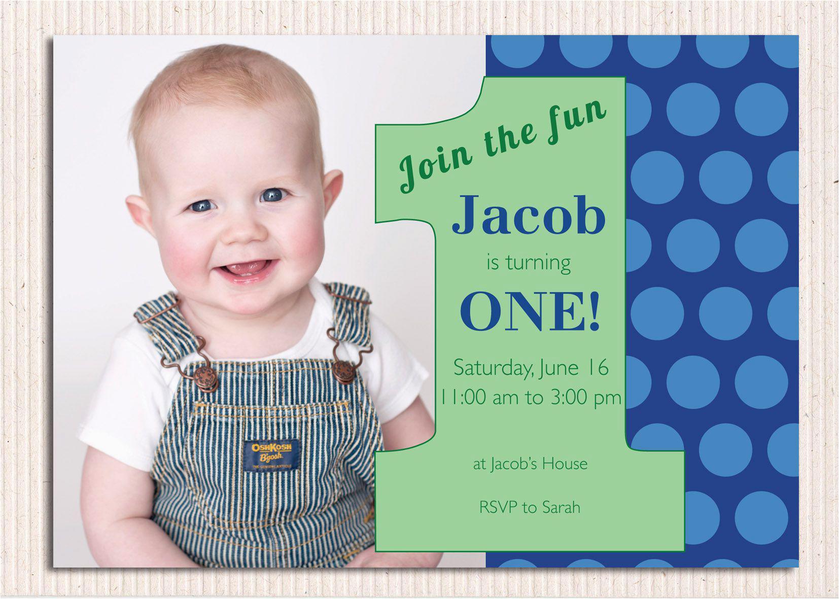 1st Year Birthday Invitation Templates 16 Best First Invites Printable Sample