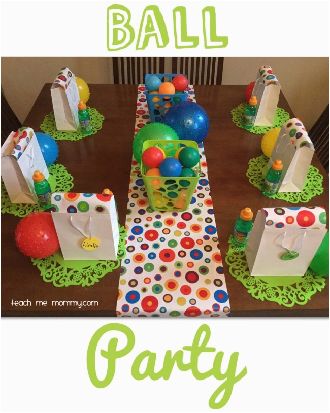 ball themed party 2 year old
