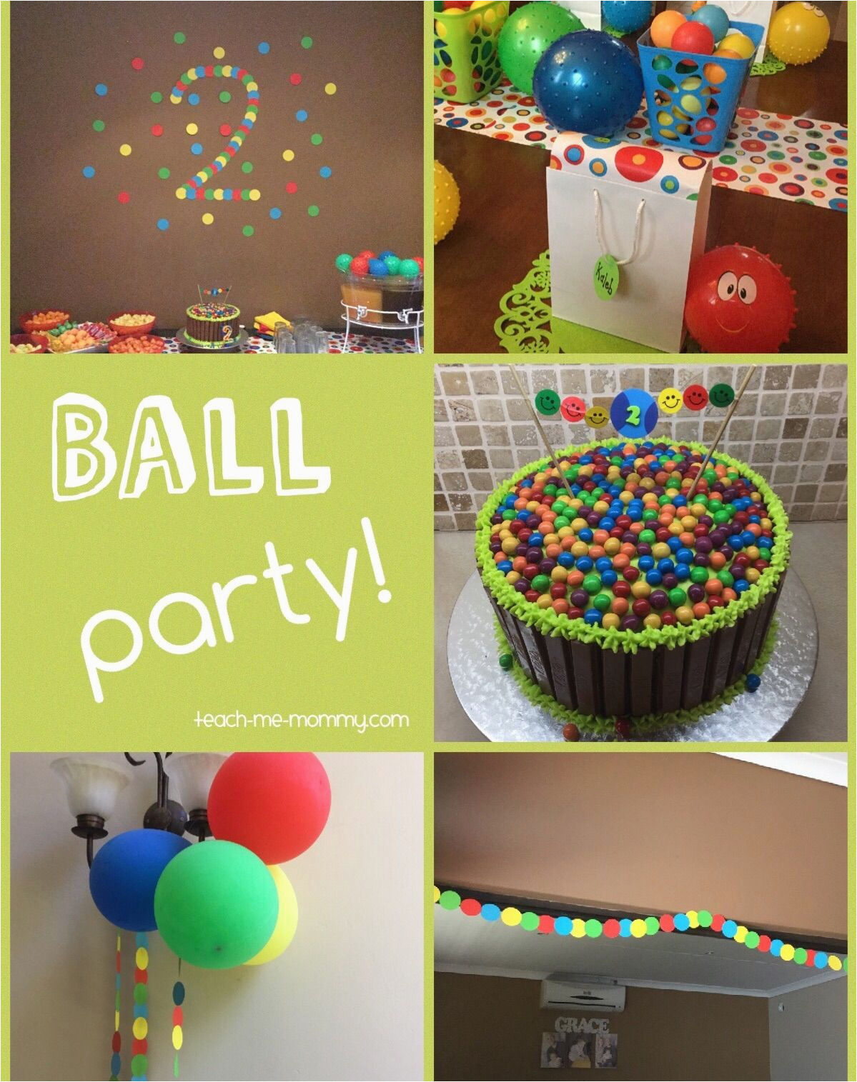 2 Year Old Birthday Decoration Ideas Ball themed Party for A 2 Year Old themed Parties