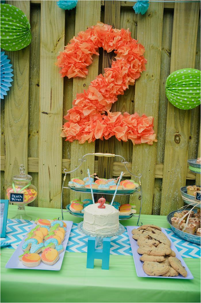2 Year Old Birthday Decoration Ideas Kara 39 S Party Peach Stand 2nd