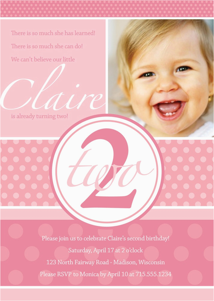2 Year Old Birthday Party Invitation Wording Dolanpedia
