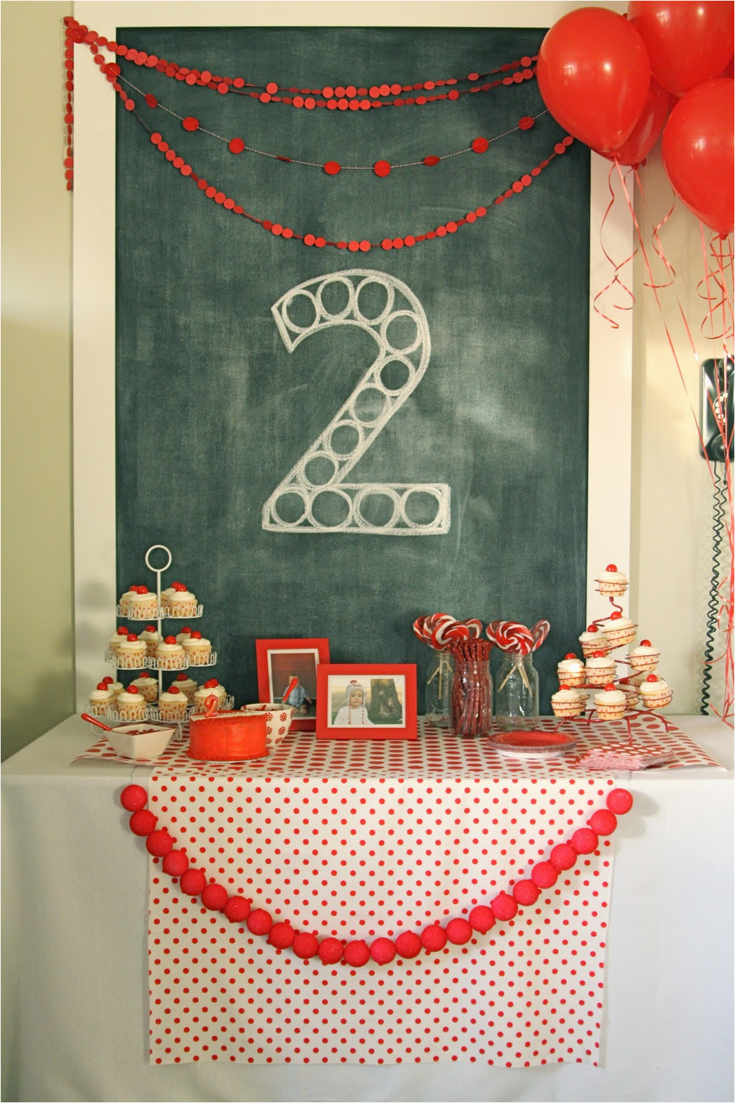 red ball party levis second birthday