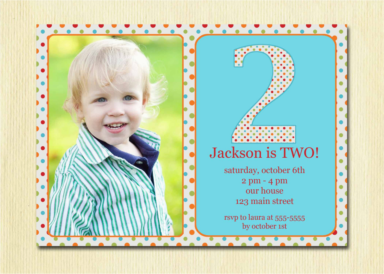 2 year old birthday invitations