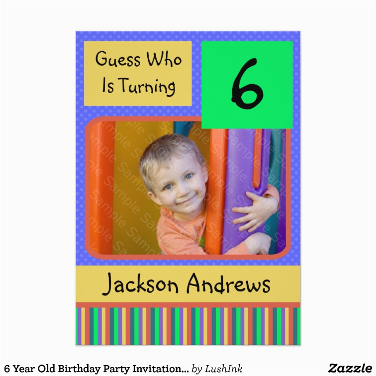 2 Year Old Boy Birthday Invitations 6 Party Zazzle