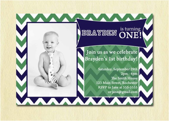 2 Year Old Boy Birthday Invitations Picture Chevron First 1st Party