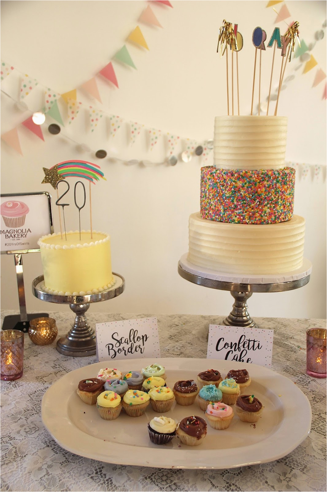 20th Birthday Decorations Fashionably Petite Magnolia Bakery Party
