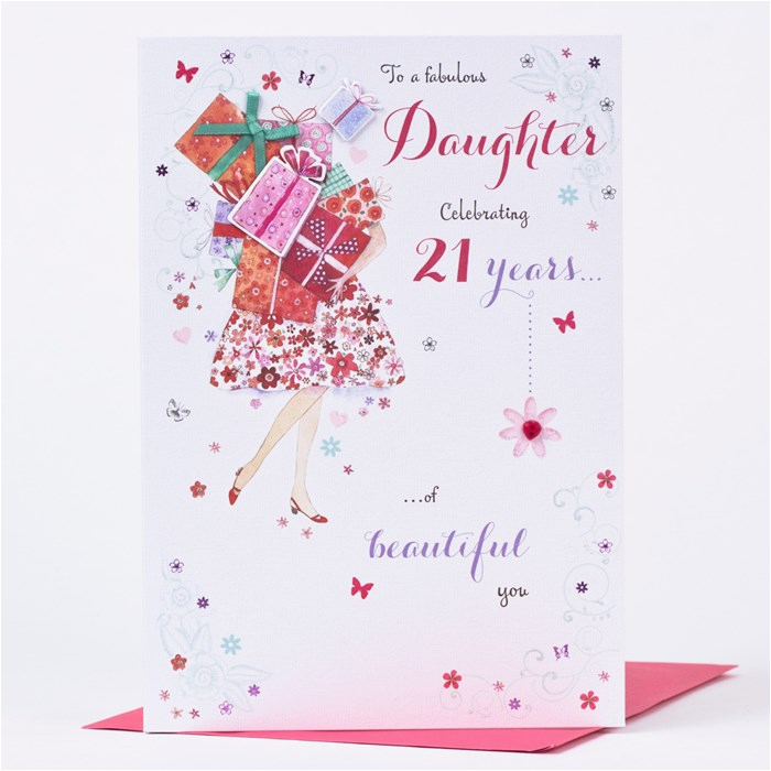 21st birthday card daughter fabulous presents only 1 49