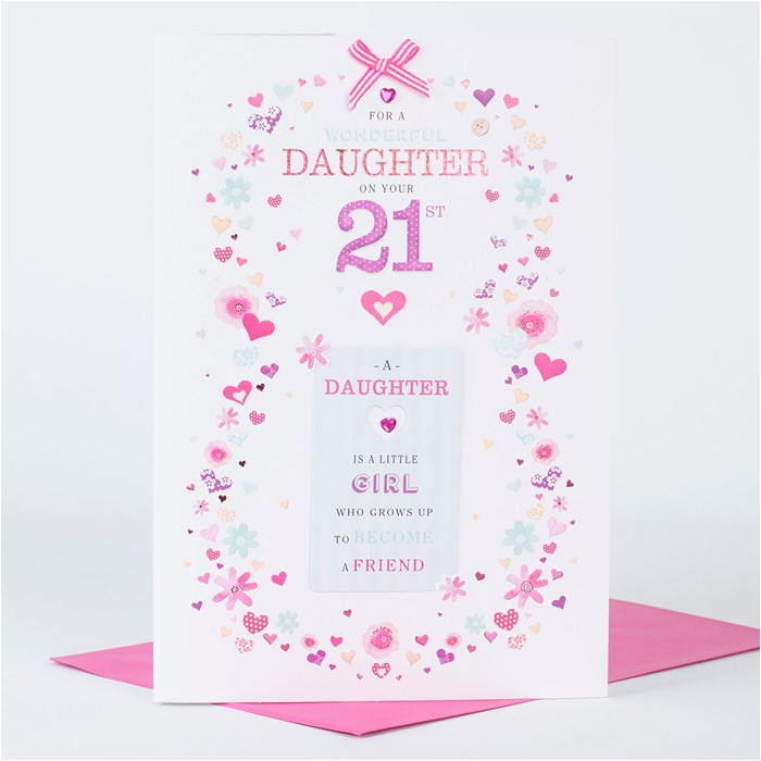 21st birthday card wonderful daughter only 1 49